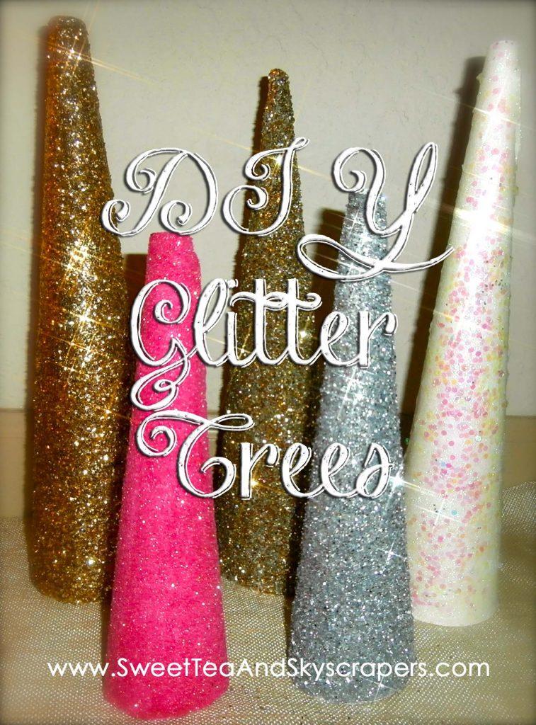 DIY: Glitter Trees